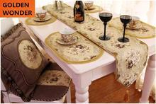 New Arrival Fashion European Modern Luxury Embroider Table Mats Dish Mat Coasters Chair Tissue Cover Home Decor Garden