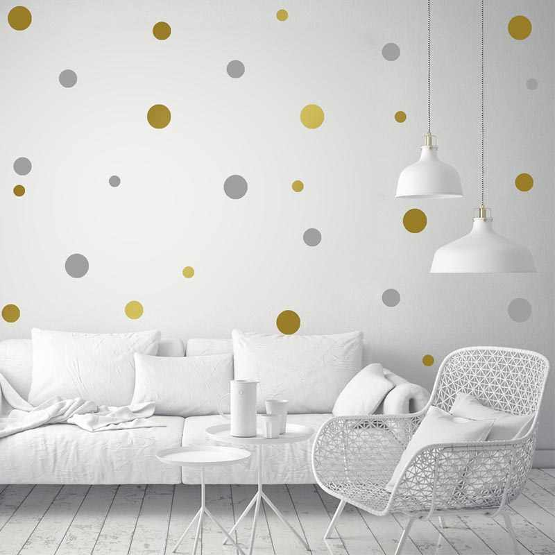 Polka Dots Wall Stickers For Kids Room Baby Nursery Stickers Home Decor kids wall sticker Baby Room Children Home Decoration