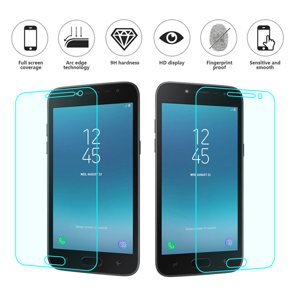 2PCS Tempered Glass For Samsung Galaxy A8 2018 Screen Protector for SS S7 Active J2pro J1 Ace J7 prime ON7 Glass protection film