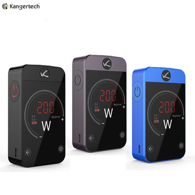 цена на 100% Original Kanger Pollex Box MOD 230W Kangertech Vape with 3500mAh Built-in Battery 2.4 inche Touch Screen