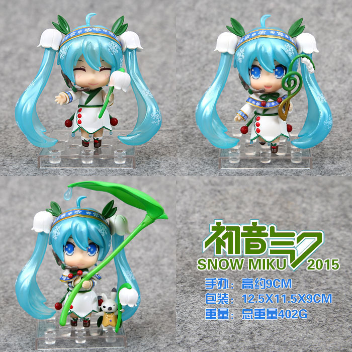 Anime Hatsune Miku Figure Snow Miku PVC Action Figure Juguetes Collectible Toy 3pcs/Set Brinquedos Anime Figure For Kids Toys new naruto shippuden orochimaru pvc action figure collectible model toy 13cm doll brinquedos juguetes hot sale freeshipping
