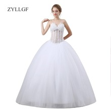 ZYLLGF White Ball Gown 2018 Robe Mariage Sexy Dress For