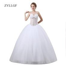 ZYLLGF White Ball Gown 2018 Robe Mariage Sexy Dress For