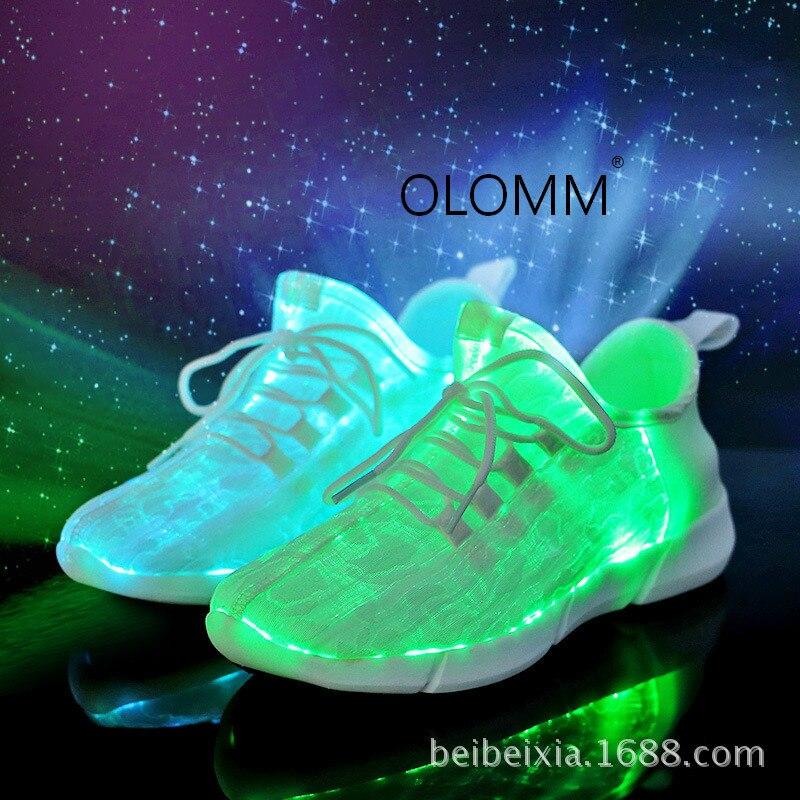 2019 nouvelle fibre optique éclairage décontracté chaussures lumineuses usb charge clignotant chaussures LED lumières hommes décontracté tenis masculino adulto