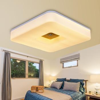 غرفة نوم خشب متين مربع led لامتصاص مصباح سقف الممر أضواء الشمال الجلوس غرفة الطعام غرفة دراسة شرفة