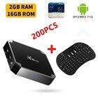 200PCS Smart TV Box X96 mini Android 7.1 TV BOX 2GB 16GB Amlogic S905W Quad Core 2.4GHz WiFi Media Player+Wireless Keyboard