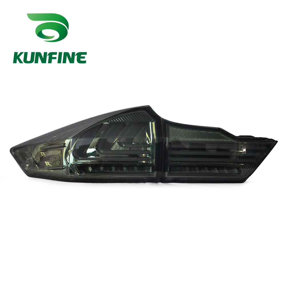 KUNFINE Pair Of Car Tail Light Assembly For Honda City 2014 LED Brake Light With Turning Signal Light KF-L7012 pair of car tail light assembly for honda city 2014 brake light with turning signal light