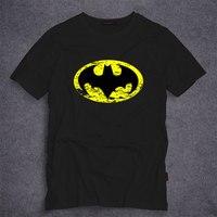 Dc comics batman logo in t-shirt mùa hè ngắn tay áo tees super hero batman nam t áo thời trang giản dị trang phục tops