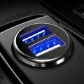 3.1A 2 порта двойное зарядное устройство USB розетка для автомобильного прикуривателя с напряжением зарядка ЖК-дисплей USB адаптер питания заря...