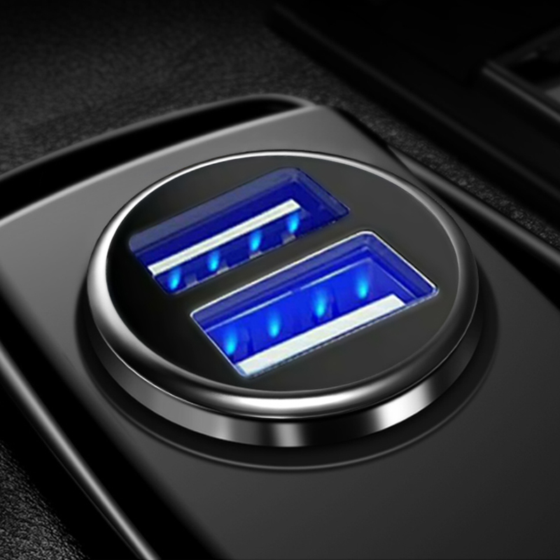 3.1A 2 Port Dual Charger USB <font><b>Car</b></font> Cigarette Lighter Socket With Voltage Charging LCD Display USB <font><b>Power</b></font> <font><b>Adapter</b></font> Charger <font><b>12v</b></font> 24v image