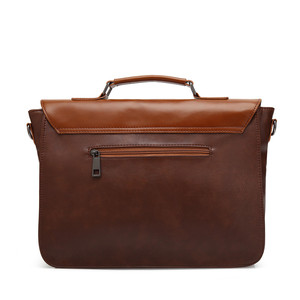 Image 4 - Zebella حقائب رجال الأعمال خمر بو الجلود براون رجل محمول حقيبة ساع المحفظة الكلاسيكية وثيقة حقيبة مكتب جديد