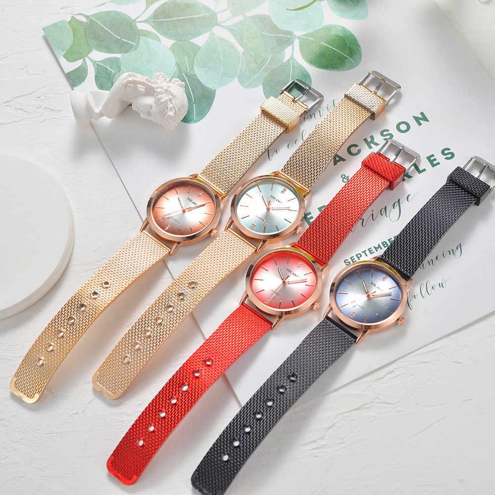 YOLAKO femmes bracelet en cuir Quartz décontracté nouvelle montre bracelet analogique montre-bracelet grand mécanisme horloge murale zegarek damski 50