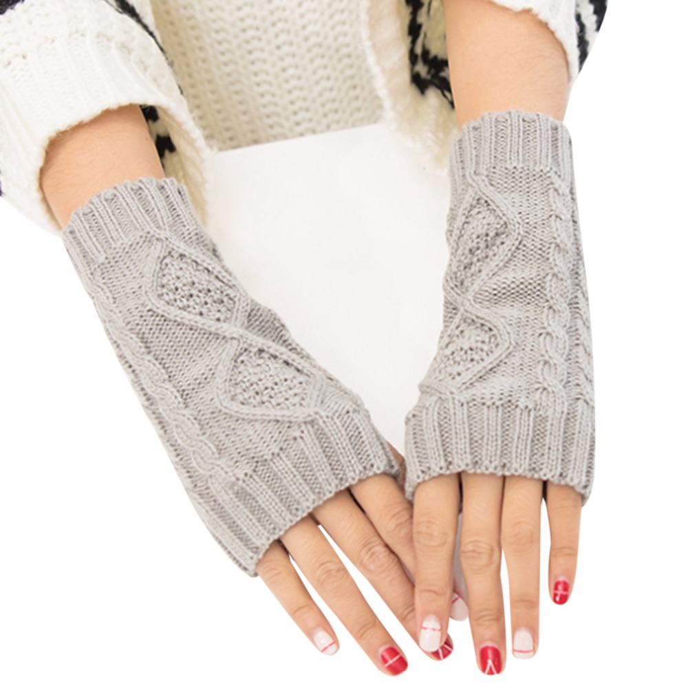 Women's Accessories Women's Arm Warmers 2019 Fashion New Fashion Women Winter Arm Protection Arm Warmer Long Fingerless Stretchy Gloves Sleeves Mittens Cotton Accessories 50% OFF