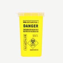 1L קיבולת מיכל חד רפואי מחטי סל Biohazard קעקוע פירסינג מחטי לרשות לאסוף תיבת קעקוע אמן תיבת פסולת