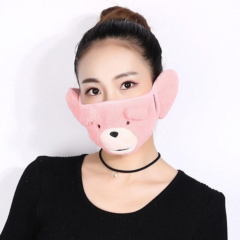 5 Teile/paket Winter Training Maskeler Reiten Atmungsaktive Masche Anime Weibliche Masker Kinder Mund Maske Kpop In Ohr Mund Maske Masken Damen-accessoires