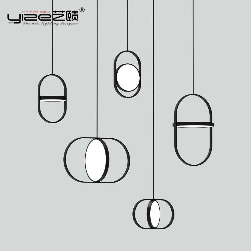 Linha nórdico Moderno Luzes Pingente Designer Anel Arqueado do Restaurante Sala de estar Sala de Jantar Quarto Cabeceira Lâmpadas Penduradas Luminária