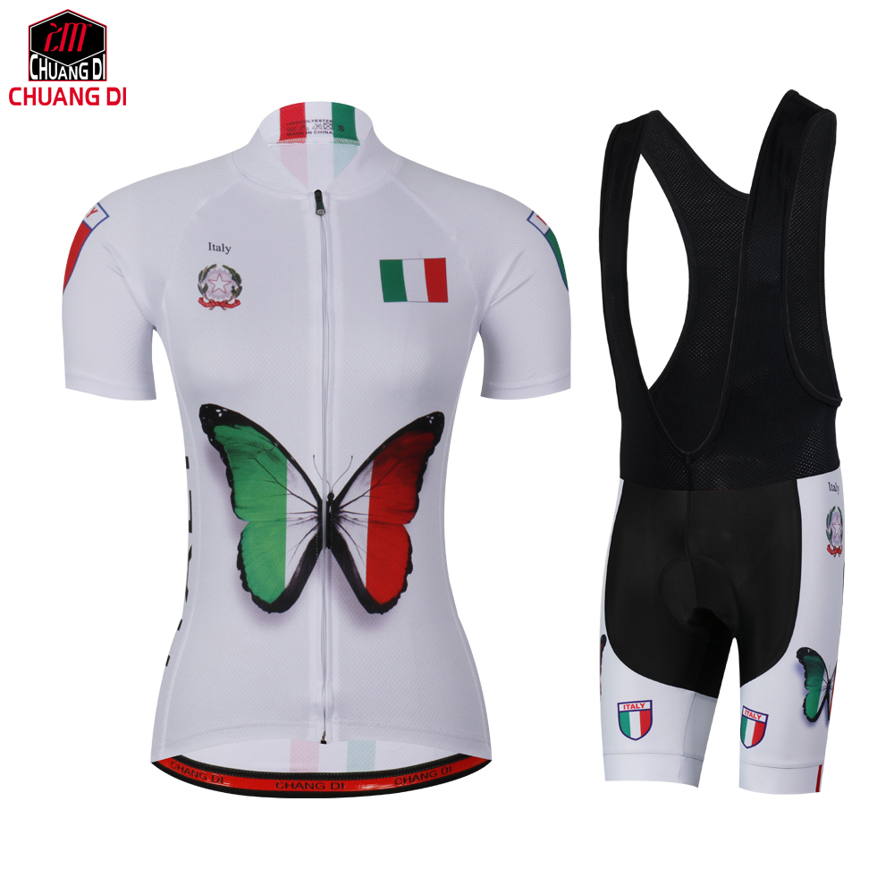 Italy National Flag  Cycling Jersey Women Bicycle Roupa Ciclismo Bike Clothing MTB Maillot Ropa Ciclismo Mujer