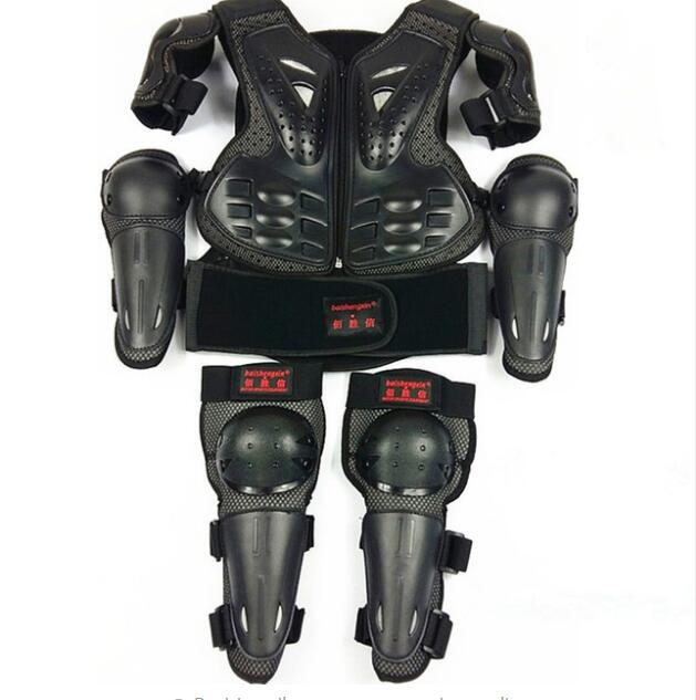 SX081 kids Motorcycle Armor anti fall protection suit armor baby knee protection elbow