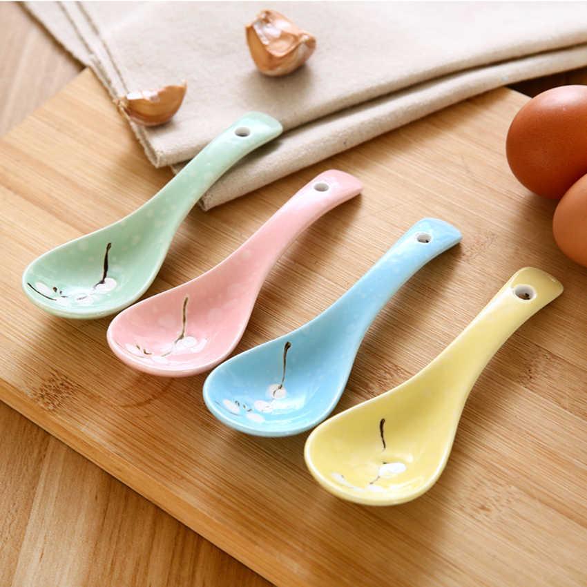 1 pc-estilo Japonês Colher Cerâmica Colher de café das Crianças Colher de Sopa Colher de Arroz Colher Louça Cozinha Celeuma, ferramenta acessórios de cozinha