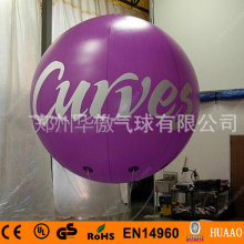 Purple Giant PVC Inflatable Balloon sky balloon helium balloon(free logo+free shipping)