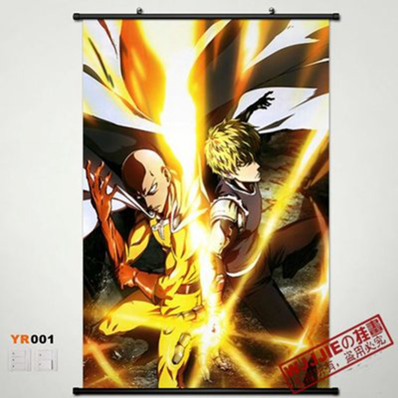 Home Decor Anime Poster Wall Scroll ONE PUNCH MAN Genos x Saitama ...
