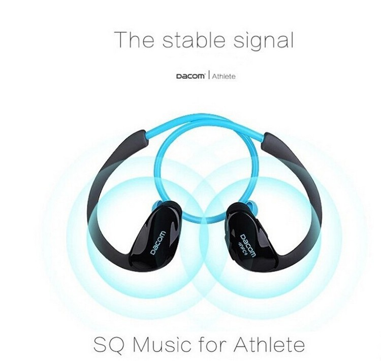 Dacom NFC Cordless Ear Hook Sport Bluetooth 4.1 earpiece Sweatproof Wireless Hifi Bass Headphones With Microphone (5)