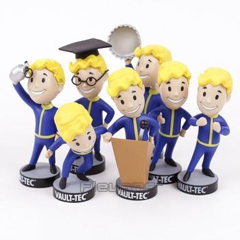 Fallout Vault Boy Bobble Глава ПВХ фигурку Коллекционная модель игрушки 7 видов стилей