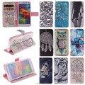 Bolsa em couro colorido flip caso telefone bag capa para samsung galaxy s iv S4 S5 S6 borda Capa Estilo Carteira Stand Design Com Slot Para Cartão