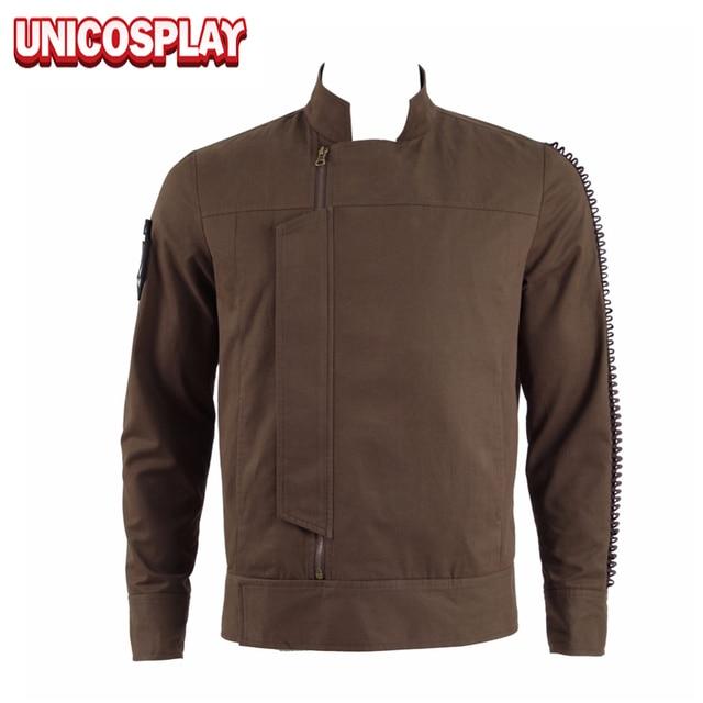 15da59d437fb A Star Wars Story Rogue One Cassian Andor Jacket Cosplay Costume Brown  Outwear Coat Men Zipper Autumn Halloween Uniform Top