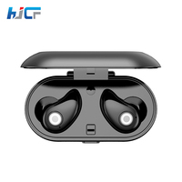 HJCF Mini Wireless Binaural Bluetooth Earphone Handsfree Blutooth Stereo Headphone Double Ears Bluetooth Headset With Charge
