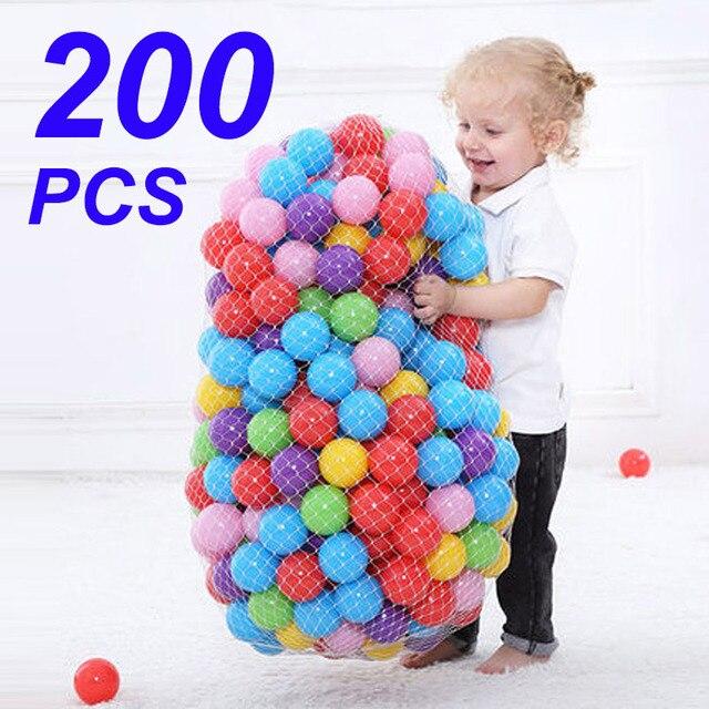 200 Bola De Plástico Do Oceano pçs/saco Ecologicamente Correta Colorido Bola Pits Engraçados Do Bebê Kid Swim Brinquedo Macio Piscina de Água do Oceano Bola Onda diâmetro 5.5 cm