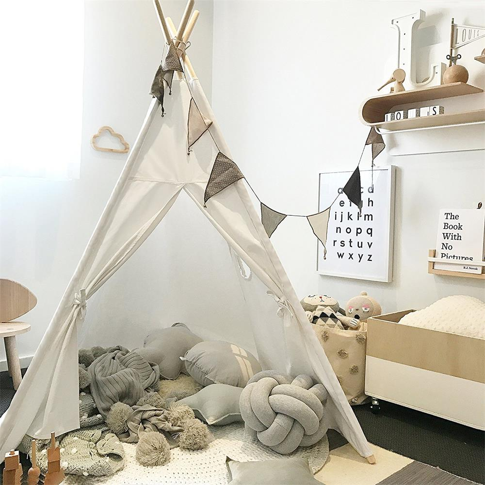 White Teepee Tent Childrens Kids Toddler Wigwam Tipi Tent with Carry Bag tipi tent for kids childrens tipi wigwam tent page 8