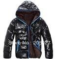Freeshipping Outono inverno dos homens Mens Algodão Quente WinterJackets Homens Hoodie da Pele Do Casaco Amassado Outwear Jaqueta de alta qualidade plus size