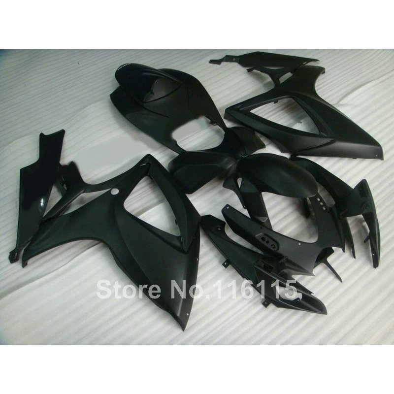 Injection mold  fairing kit for SUZUKI GSXR 600/750 K6 K7 2006 2007 all matte black GSXR600 GSXR750 06 07 fairings RP5
