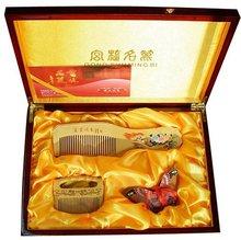 2018 Hot Sale Promotion Classic!hot Sale!gifts With Chinese Characteristics Boxwood Comb-huangyangshu Hudieshu San Jiantao