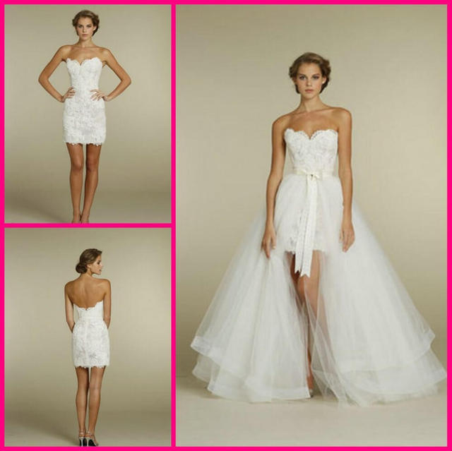 2 Piece Short Wedding Dress