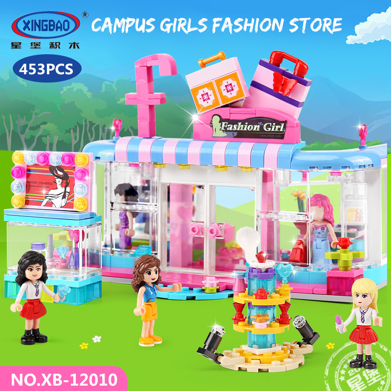 453pcs City Girls Series the Fashion Clothing Store Set Compatible Legoing Friends Build ...