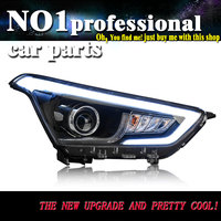 OUMIAO автомобильный Стайлинг для hyundai ix25 фары для hyundai Creta светодио дный фара ангел глаз светодио дный LED DRL передний свет Биксеноновые линзы xeno