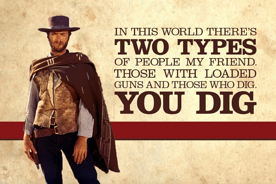 The Good, the Bad and the Ugly,Clint Eastwood western movies poster Print Waterproof