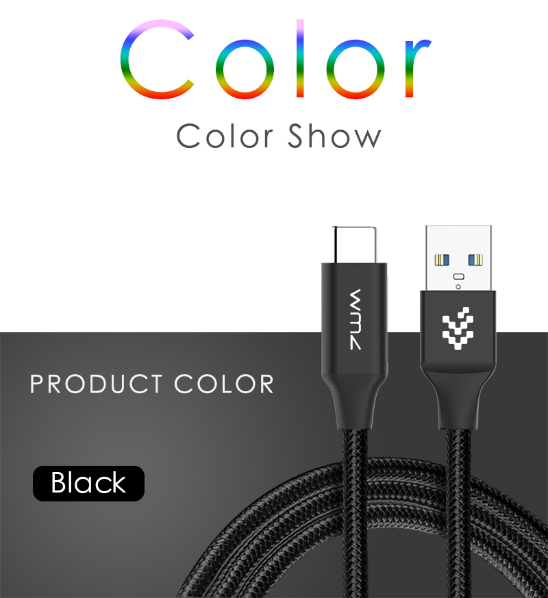 USB Type-C 3.0 Red Braided Cable 12