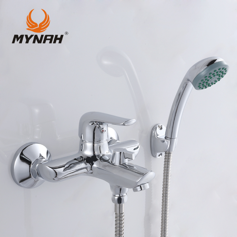 MYNAH Russia free shipping Shower system Tropical Shower Shower rack with mixer Tap Wall Mounted M3037 mynah russia free shipping bathroom shower faucet bath faucet mixer tap with hand shower head set wall mounted mynah m3111