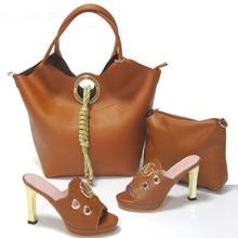 Populären Italienische Frauen Schuhe Mit Passender Tasche Set Mit Strass Dekoration Afrikanische Frauen Schuh Und Tasche Set HS16009