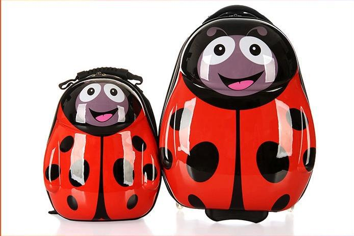 2 Pieces Trolley And Backpack Cute Animal Cartoon Style