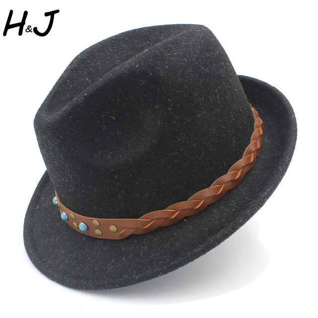 9d9bf0470b2 Women Men Fedora Hat For Winter Autumn Wool Elegant Lady Dad Trilby Homburg  Church Hat Derby Cloche Boater Jazz Caps