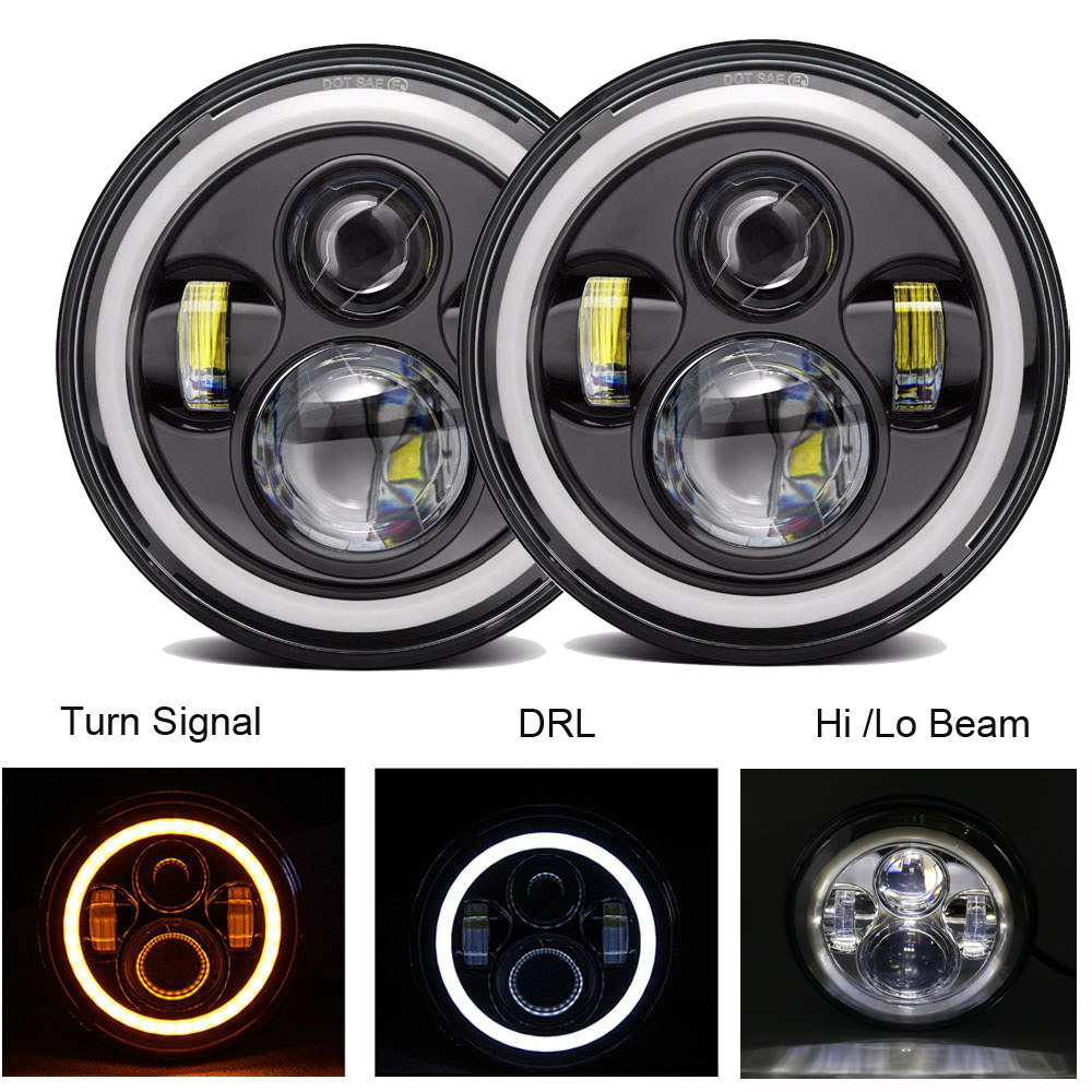 Hot Selling 2pcs 7 Inch Round Led Driving Light H4 LED Car Headlight Kit Auto for