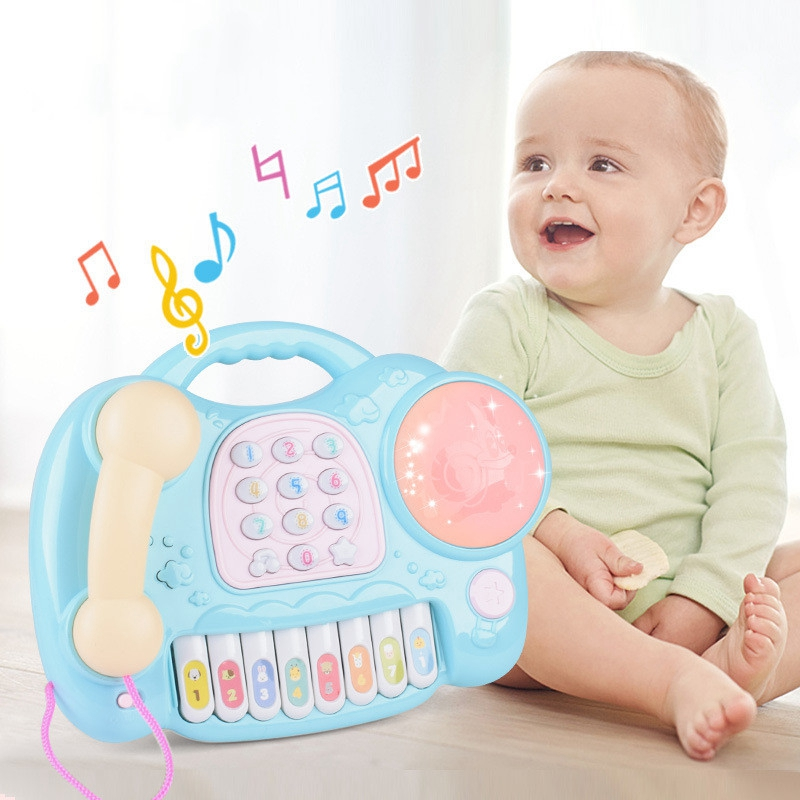 Cool Light Music Story Phone Toy Mathematics Cognitive Children's Toys Piano Party Song 0-12 Months Baby Animal Sound Music Toys