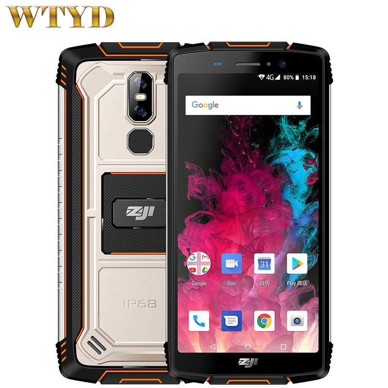 HOMTOM ZOJI Z11 4GB 64GB IP68 Waterproof 10000mAh 5 99 Android 8 1 MTK6750T Octa Core