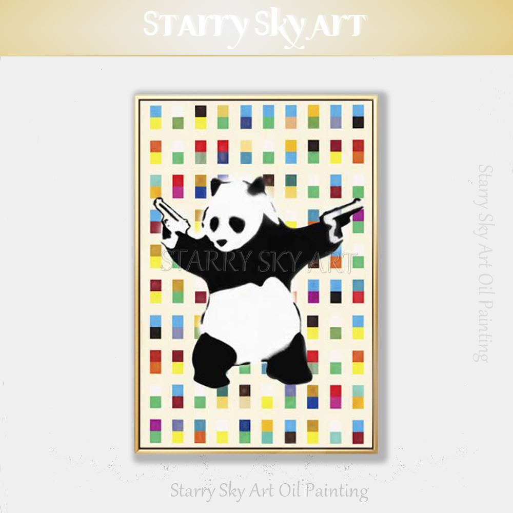 Decoration, Fine, Panda, Artist, Painting, Funny