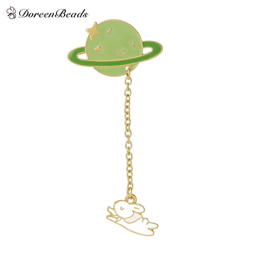Doreenbeads 2016 vintage designer enamel rabbit planet for Decor jewelry