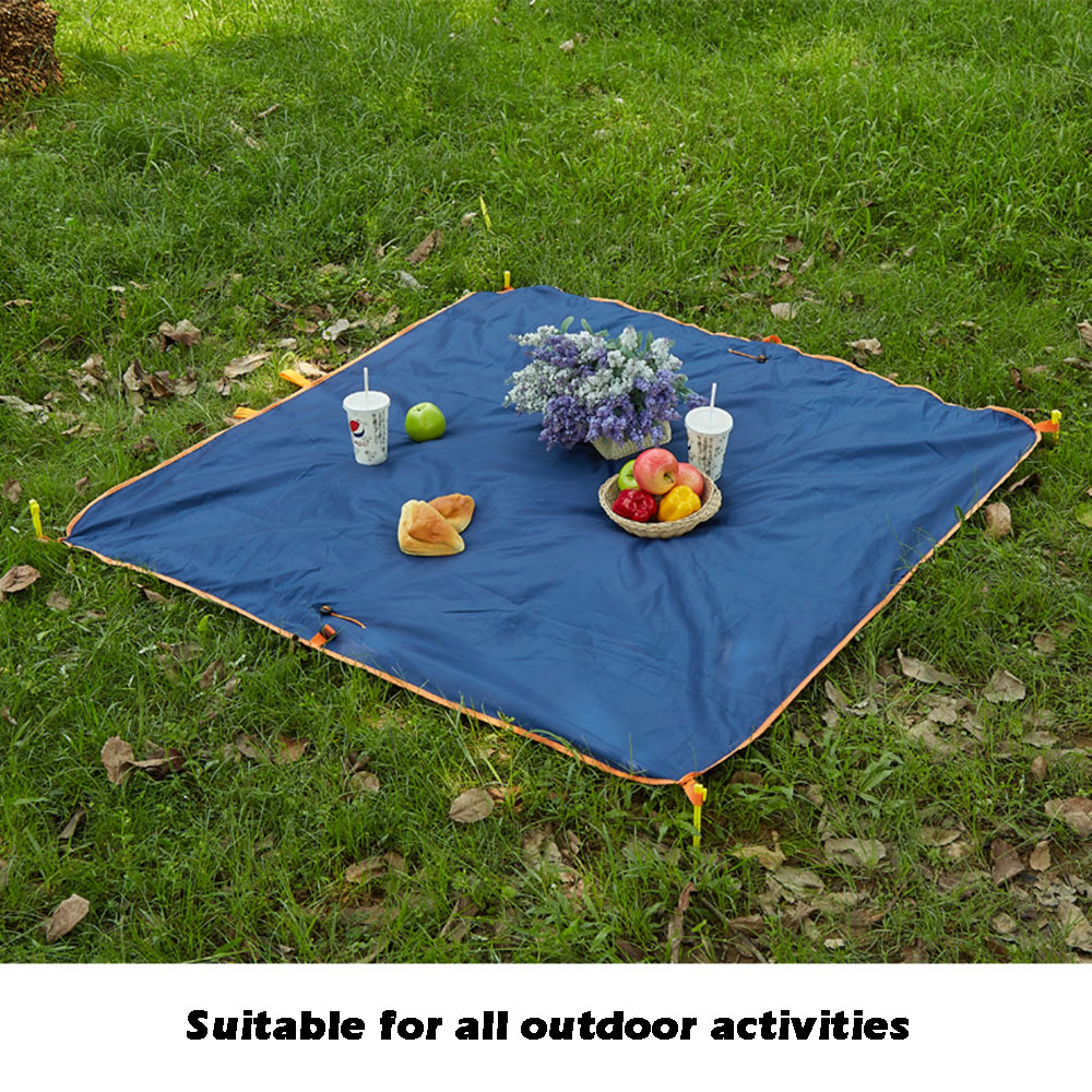 Camping Mat Multifunctional Magical Sand Beach Mat Round Blue/green/grey Sand Free Beach Mats New Sandbeach Mat Camping 1.5*1.5m Dropship Low Price